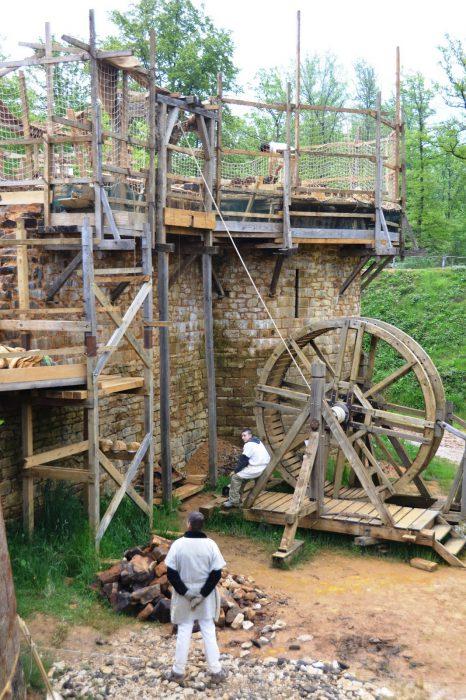 Guedelon aanbouw kasteel