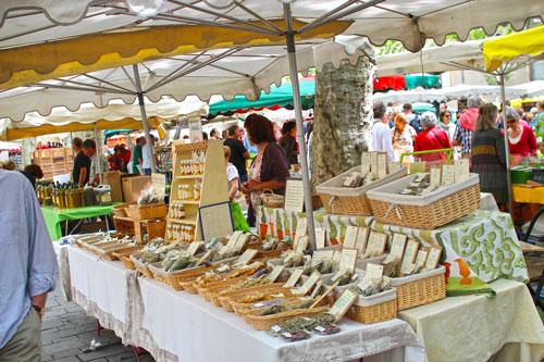 De markt van Saint-Tropez