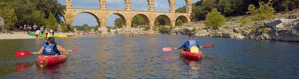 Kanovaren bij Pont du Gard